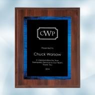 Blue Galaxy Acrylic Cherrywood Plaque