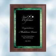 Green Galaxy Acrylic Cherrywood Plaque
