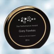 Black/Gold Ring Aurora Acrylic Award