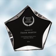 Black/Clear Luminary Star Acrylic Award