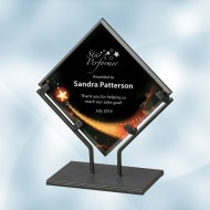 Star Galaxy Acrylic Plaque Award with Iron Stand