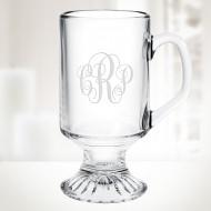 Irish Coffee Footed Glass Mug, 10oz