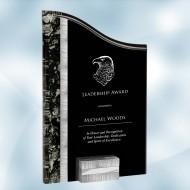 SunRay Silver / Black Acrylic Award