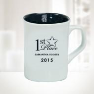 10oz White Ceramic Round Corner Mug
