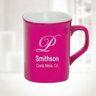 Pink Ceramic Round Corner Mug, 10oz