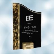 SunRay Gold / Black Acrylic Award