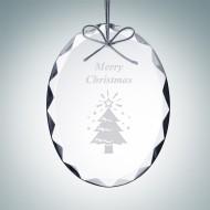 Gem-Cut Oval Ornament