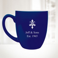 16oz Blue Ceramic Bistro Mug