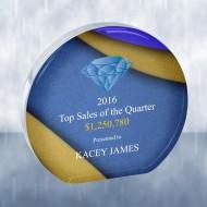 Sublimation Color Imprinted Beveled Circle Acrylic Award