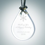 Beveled Teardrop Ornament