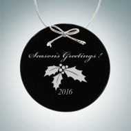 Black Circle Ornament