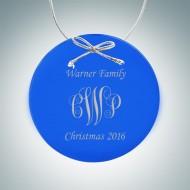Blue Circle Ornament