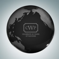 Black Globe Paperweight