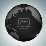 Black Globe Paperweight