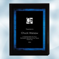 High Gloss Blackwood Horizontal/Vertical Plaque - Blue Galaxy Acrylic Plate