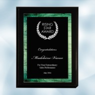 High Gloss Blackwood Horizontal/Vertical Plaque - Green Galaxy Acrylic Plate