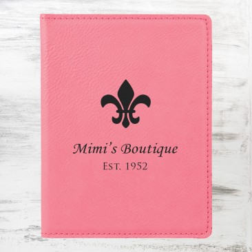 Pink Leatherette Passport Holder