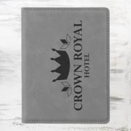 Gray Leatherette Passport Holder