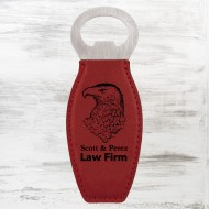 Rose Leatherette Bottle Opener with Magnet