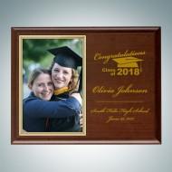 Academic Genuine Cherrywood Finish Horizontal Photo Frame Plaque