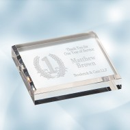 Acrylic Square Paperweight