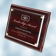 Rosewood Piano Finish Horizontal/Vertical Plaque - Floating Acrylic Plate