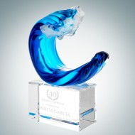 Art Glass Tidal Wave Award