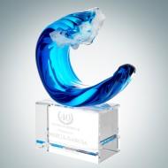 Art Glass Tidal Wave Award