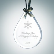 Beveled Teardrop Ornament
