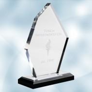Acrylic Boulder Award with Black Base