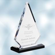 Acrylic Peak Award with Black Base