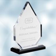 Acrylic Diamond Award with Black Base