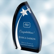 Acrylic Oval Star Award