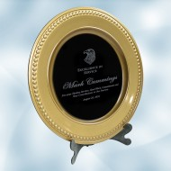 Gold/Black Acrylic Award Plate with Stand