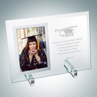 Academic Jade Vertical Mirror Photo Frame with Stand