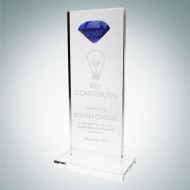 Tower Award with Blue Diamond Accent
