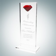 Tower Award with Red Diamond Accent