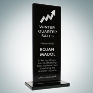 Black Glass Honorary Rectangular Award