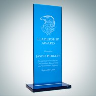 Blue Glass Honorary Rectangular Award