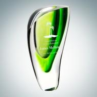 Art Glass Green Lush Vase