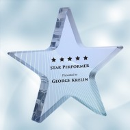 Color Photo Imprinted Acrylic Star Paperweight