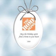 Color Imprinted Acrylic Oval Ornament