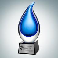 Art Glass Rain Drop Award