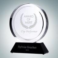 Winners Circle Award With Black Crystal Base