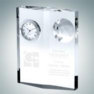 Globe Plaque Clock