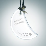 Beveled Moon Ornament