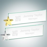 Jade Nameplate with Star Holder