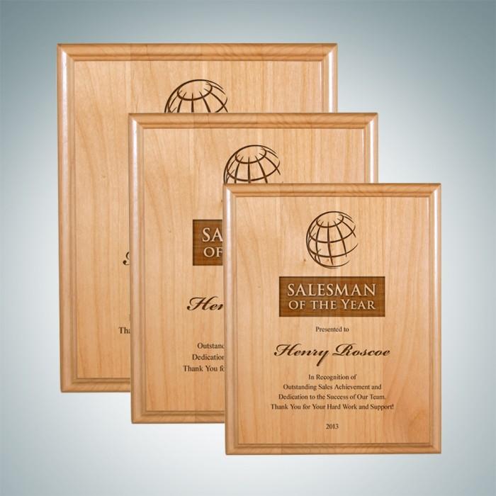 frames plaques genuine red alder wood plaque award