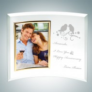 Jade Curved Vertical Gold Photo Frame