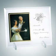 Vertical Gold Photo Frame with Stand